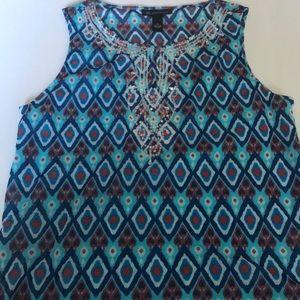 INC sleeveless dress tank top with embellishments